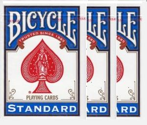 3 Τράπουλες Bicycle - Standard - Poker Size Rider back - Old case